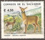 Sellos de America - El Salvador -  VENADO.  ODOCOILEUS  VIRGINIANUS.