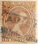 Stamps Spain -  15 céntimos 1889