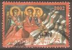 Stamps Cyprus -  ÀNGELES.  MURAL  EN  PARED.