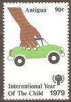 Stamps Antigua and Barbuda -  AÑO  INTERNACIONAL  DEL  NIÑO.  JUEGO  CON  CARRITO.