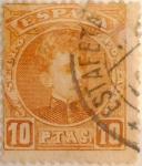 Sellos de Europa - España -  10 pesetas 1901