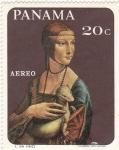 Sellos de America - Panamá -  Pintura Leonardo Da Vinci