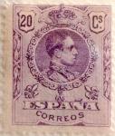 Sellos de Europa - España -  20 céntimos 1921j