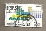 Stamps Thailand -  Año Nacional de los Arboles 1988