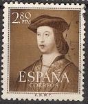 Sellos de Europa - España -  ESPAÑA SEGUNDO CENTENARIO USD Nº 111O (0) 2,8P CASTAÑO FERNANDO EL CATOLICO.