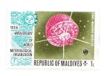 Stamps Asia - Maldives -  tiros -satelite