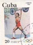 Sellos de America - Cuba -  Juegos Olímpicos de Los Angeles-84