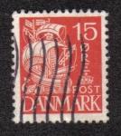 Sellos del Mundo : Europa : Dinamarca : Nave de Vela