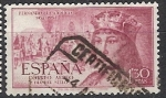 Stamps Spain -  ESPAÑA SEGUNDO CENTENARIO USD Nº 1113 (0) 1,3P LILA ROSACEO FERNANDO EL CATOLICO