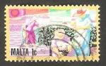 Sellos de Europa - Malta -  Cultivo de algodón