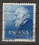 Stamps Spain -  ESPAÑA SEGUNDO CENTENARIO USD Nº 1119 (0) 2P AZUL RAMON Y CAJAL