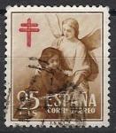 Sellos de Europa - España -  ESPAÑA SEGUNDO CENTENARIO USD Nº 1123 (0) 25C CASTAÑO PROTUBERCULOSOS