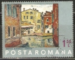 Stamps Romania -  VENECIA.  PINTURA DE  MARIUS  BUNESCU.