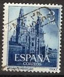 Sellos de Europa - España -  ESPAÑA SEGUNDO CENTENARIO USD Nº 1131 (0) 3P AZUL AÑO SANTO COMPOSTELANO