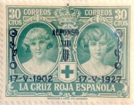 Stamps Spain -  30 céntimos 1927