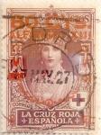 Stamps Spain -  80 sobre 5 céntimos 1927