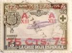 Stamps Spain -  75 sobre 5 céntimos 1927