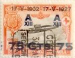 Sellos de Europa - España -  75 sobre 50 céntimos 1927