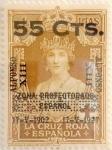 Sellos de Europa - España -  55 céntimos sobre 4 pesetas 1927
