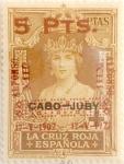 Sellos de Europa - España -  5 pesetas sobre 4 pesetas 1927