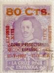 Sellos de Europa - España -  80 céntimos sobre 10 pesetas 1927