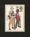 Sellos del Mundo : Europa : Reino_Unido : Uniformes Militares - soldados - Guardia Irlandesa