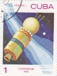 Sellos de America - Cuba -  Aeronautica Vostok I