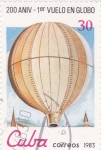Stamps Cuba -  200 Aniversario 1º vuelo en globo