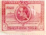 Stamps Spain -  4 pesetas 1929