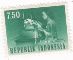 Sellos de Asia - Indonesia -  Operaria