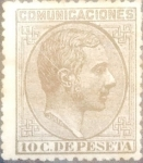 Stamps : Europe : Spain :  Intercambio mxrl 7,75 usd 10 céntimos 1878