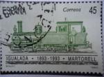 Stamps Spain -  Ed: 3265 - Centenario del Ferrocarril Igualdad - 1893-1983 - Martorell.