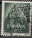 Sellos de Europa - España -  ESPAÑA SEGUNDO CENTENARIO USD Nº 1138 (0) 80C VERDE OSCURO AÑO MARIANO