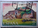 Stamps Spain -  Hispanidad 1973 - Castillo del Río San Juan Nicaragua.
