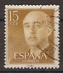 Sellos de Europa - España -  ESPAÑA SEGUNDO CENTENARIO USD Nº 1144 (0) 15C OCRE GENERAL FRANCO