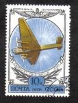 Sellos de Europa - Rusia -  Monoplano TB 3 de 1930