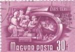 Sellos de Europa - Hungría -  Escuela de música