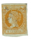 Stamps Spain -  Isabel II