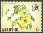 Stamps : Africa : Lesotho :  566 - Mariposas