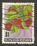 Sellos de Asia - Singapur -  Flores y frutos
