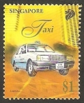 Stamps Singapore -  Taxi