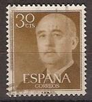 Sellos de Europa - España -  ESPAÑA SEGUNDO CENTENARIO USD Nº 1147 (0) 30C CASTAÑO FRANCO