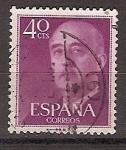Sellos de Europa - España -  ESPAÑA SEGUNDO CENTENARIO USD Nº 1148 (0) 40C LILA OSCURO FRANCO
