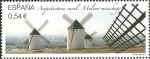 Stamps Spain -  ARQUITECTURA  RURAL.  MOLINO  MANCHEGO.