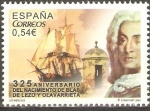 Sellos de Europa - España -  325  ANIVERSARIO  DEL  NACIMIENTO  DE  BLAS  DE  LEZO  Y  OLAVARRIETA