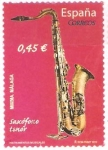 Stamps : Europe : Spain :  INSTRUMENTOS  MUSICALES.  SAXOFÒN  TENOR.