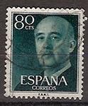 Sellos de Europa - España -  ESPAÑA SEGUNDO CENTENARIO USD Nº 1152 (0) VERDE GENERAL FRANCO