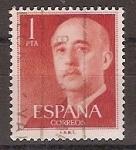 Sellos de Europa - España -  ESPAÑA SEGUNDO CENTENARIO USD Nº 1153 1P ROJO FRANCO