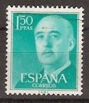 Sellos de Europa - España -  ESPAÑA SEGUNDO CENTENARIO USD Nº 1155 (0) 1,5P VDE AZUL FRANCO