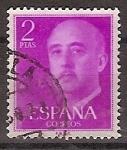 Sellos de Europa - España -  ESPAÑA SEGUNDO CENTENARIO USD Nº 1158 (0) 2P PURPURA FRANCO.